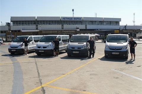 The 9-seat passenger vans.