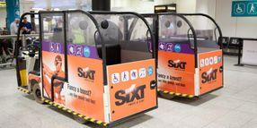 Sixt Sponsors Ads on London Airport Buggies