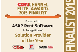 ASAP Rent Named 'Solution Provider of the Year' Finalist