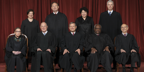 The U.S. Supreme Court Justices. Photo via WikiMedia