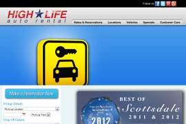 High Life Auto Rental Redesigns Website