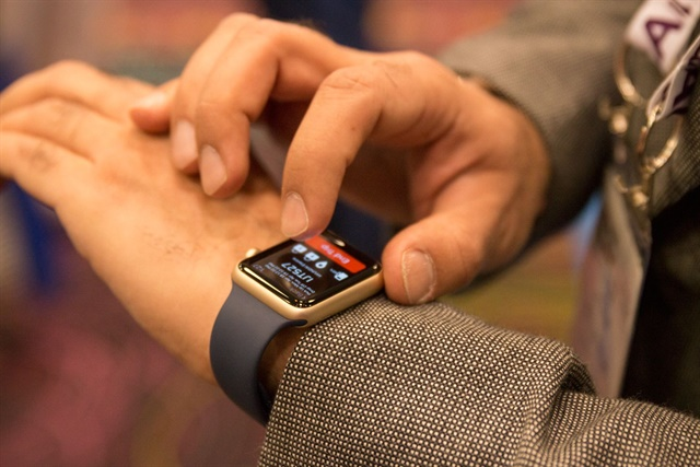 Rent Centric's new Apple Watch integration. Photo courtesy of Julian Frank.