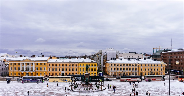 Helsinki's city center. Photo via Marco Berch/Flickr