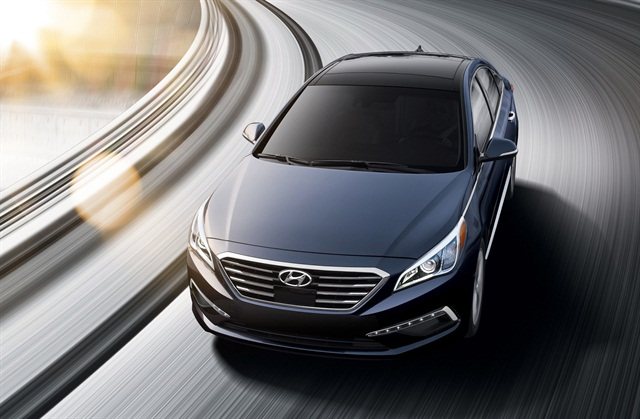 The 2015 Hyundai Sonata is one of the new fleet vehicles at select Avis and Budget locations in Canada. Photo courtesy of Hyundai.