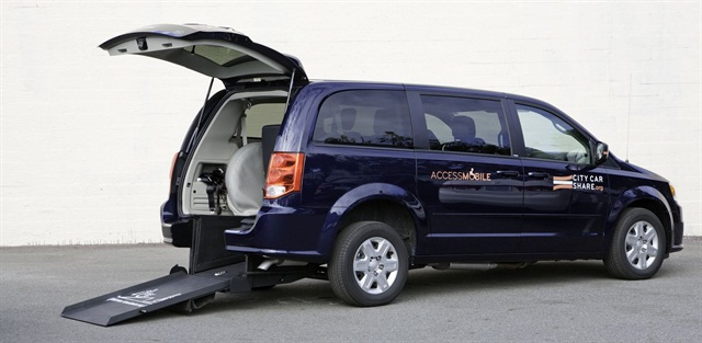 City CarShare's CarShare4All program will include wheelchair-accessible vans. Photo courtesy of City CarShare.