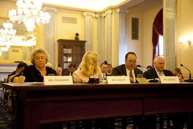 Sharon Faulkner, executive director of ACRA (left), testified yesterday regarding the rental car recall bill in front of the U.S. Senate Subcommittee on Consumer Protection, Product Safety and Insurance.