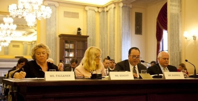 Sharon Faulkner, executive director of ACRA (left), testified regarding the Safe Rental Car Act in front of the U.S. Senate Subcommitee on Consumer Protection, Product Safety and Insurance in 2013.