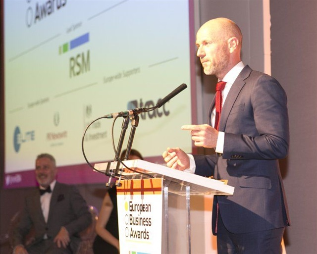 Adrian Tripp, the CEO of the European Business Awards. Photo courtesy of CarTrawler.