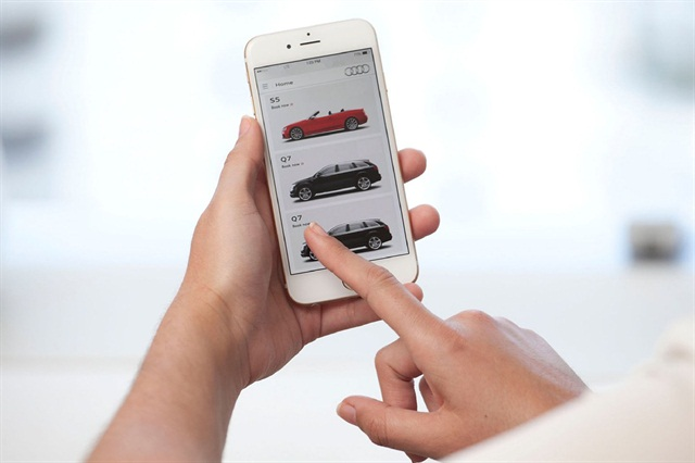 The Audi at home mobile app. Photo courtesy of Audi USA.