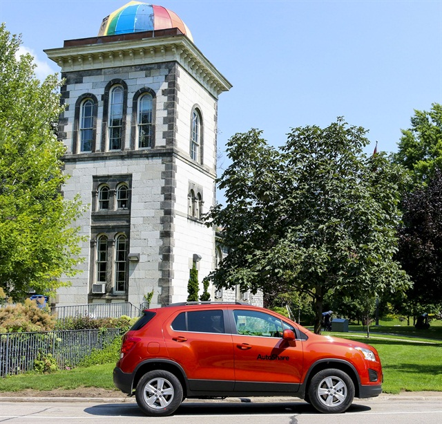 AutoShare is expanding its carsharing fleet with 16 new Chevy vehicles at three universities in Toronto. Photo courtesy of GM.