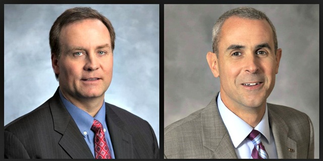 Gerard Insall (left) and Ned Linnen have been promoted to Avis Budget Group's senior leadership team. Photos courtesy of Avis Budget.
