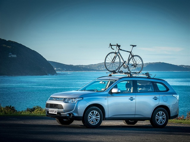 "Europcar's Mitsubishi Outlander ""bike-ready"" vehicle. Photo via Europcar."