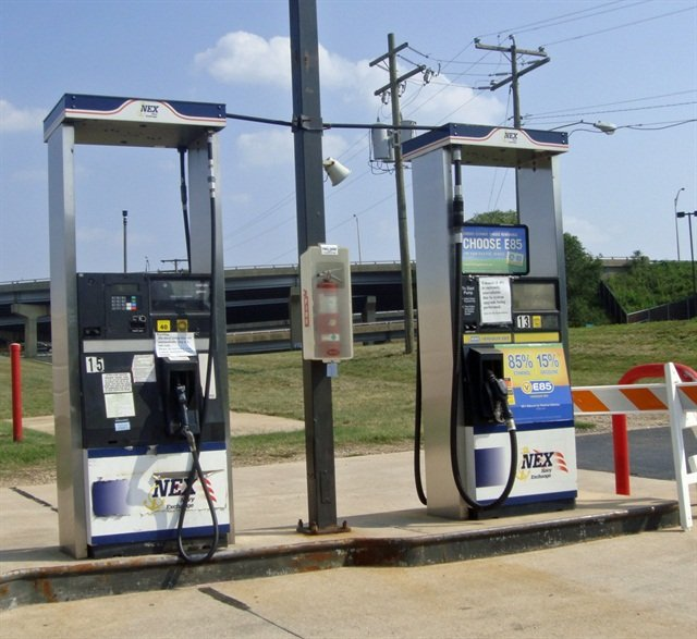 A biofuel filling station. Photo via Wikipedia.