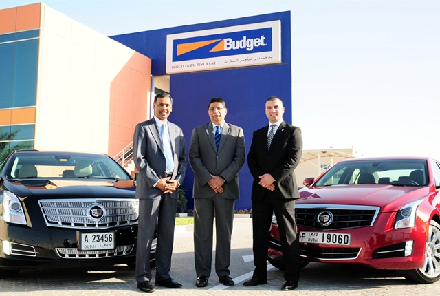 Photo courtesy of Budget UAE.From Budget UAE, left to right: Rajesh Krishnan, Salim Damji and Abdalla Madhoun.