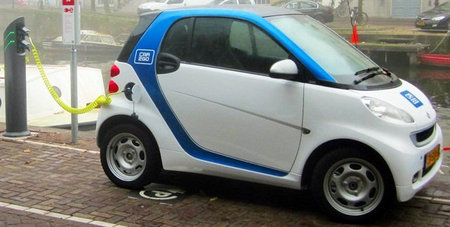 A car2go electric smart fortwo vehicle. Photo courtesy of Wikimedia.
