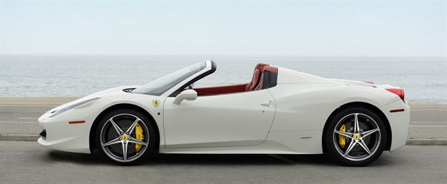 CarHopper offers luxury car rental vehicles, such as the Ferrari 458 Spider, on its booking platform. Photo courtesy of CarHopper.