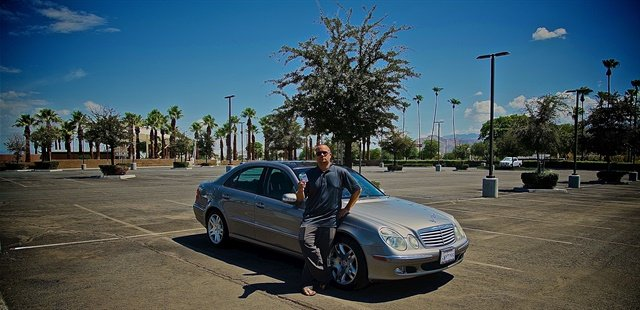Chad Roberson, owner of Small Time Luxury Car Rentals, has been banned from parking his luxury rental vehicles at Palm Springs International Airport's public parking lot.