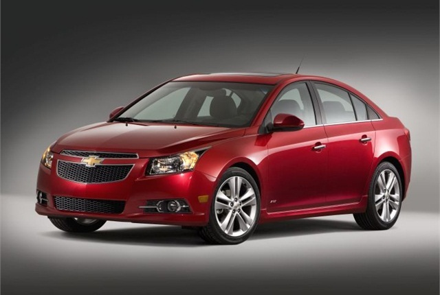 The Chevrolet Cruze was one of the vehicles recently recalled by General Motors. Photo courtesy of GM.