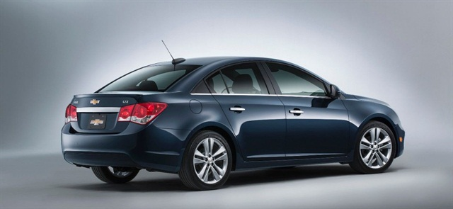 The 2015 Chevrolet Cruze is one of the models now offered by Hertz. Photo courtesy of GM.