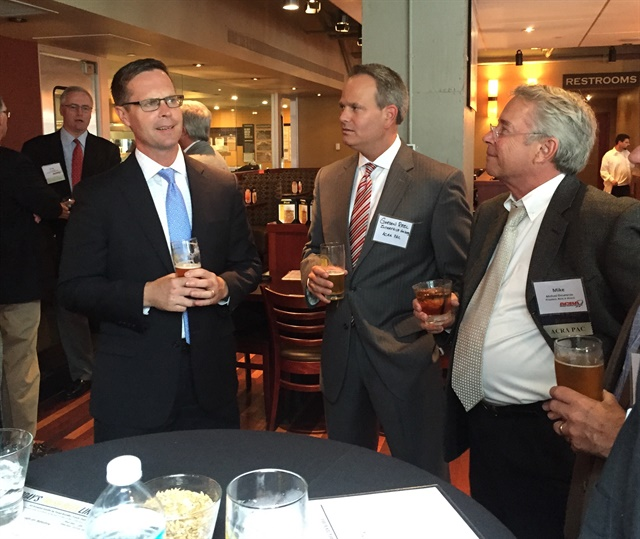 "DeLorenzo (right) took part in ACRA's ""Day on the Hill"" meetings in Washington, D.C. last September, which included a reception for (left) Congressman Rodney Davis (R IL-13)."
