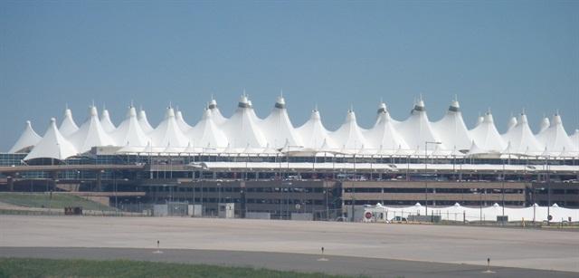 Hertz's location at Denver International Airport now has solar power. Photo via Wikimedia.