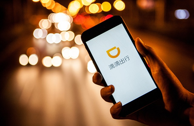 Didi Chuxing's mobile app. Photo courtesy of Didi Chuxing