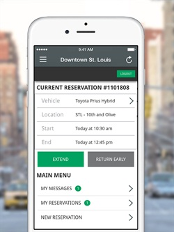 Enterprise CarShare has released a new mobile app for iPhone and Android users. Photo courtesy of Enterprise.