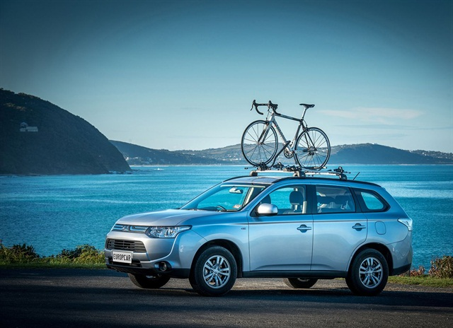Europcar Australia launches Mitsubishi Outlanders fitted with bike carriers. Photo credit: Europcar Australia.