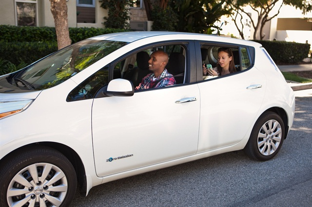 Evercar provides electric vehicles for on-demand drivers (Lyft, Uber) to rent for as little as $5 per hour. Photo courtesy of Evercar.