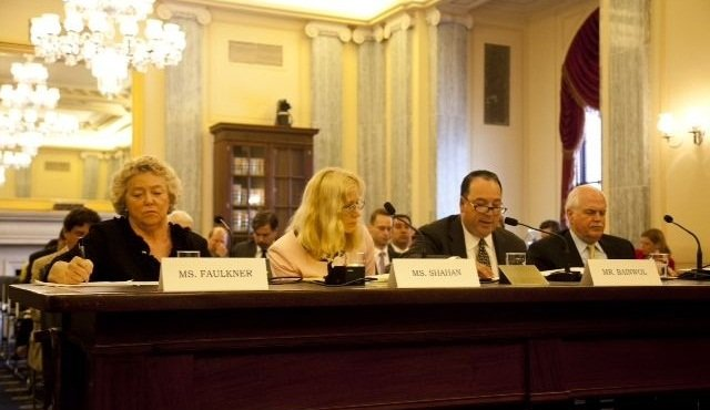 Sharon Faulkner, executive director of ACRA (left), testified regarding the rental car recall bill in front of the U.S. Senate Subcommittee on Consumer Protection, Product Safety and Insurance in 2013.