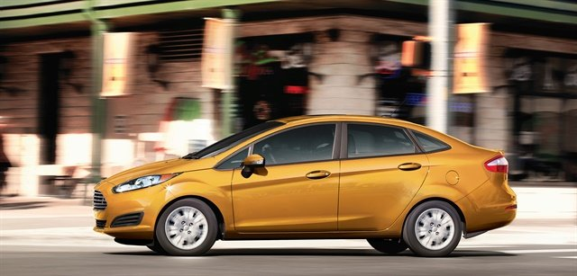 Subcompact vehicles like the Ford Fiesta dropped 2.4% in value. Photo courtesy of Ford.
