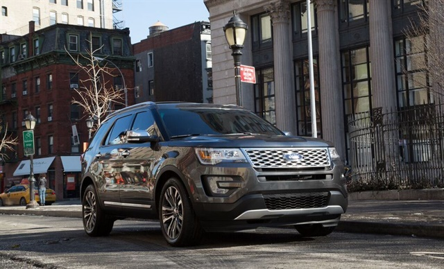 SUVs like the Ford Explorer continue to boost rental vehicle sales. Photo by Ford.