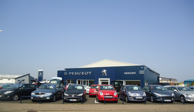 A Peugeot dealership in the U.K. Photo via Stacey Harris/Geograph
