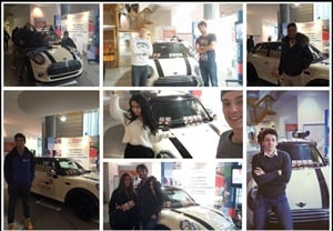 Selfies from Globe Car Rental's grand-opening ceremony.