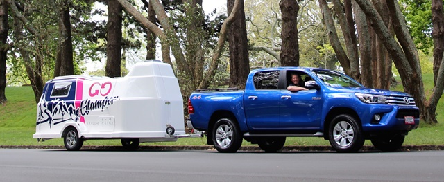 GO Rentals' GO Glamper camper trailer can be rented with a truck for towing. Photo courtesy of GO Rentals.