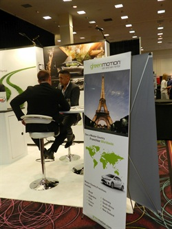 Green Motion's booth at the 2015 Car Rental Show. Photo by Amy Winter-Hercher.
