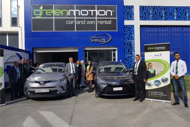 Green Motion launched in 2007 offering vehicles with lower CO2 emissions. The group recently added Toyota hybrid models to its fleet. Photo via Green Motion.