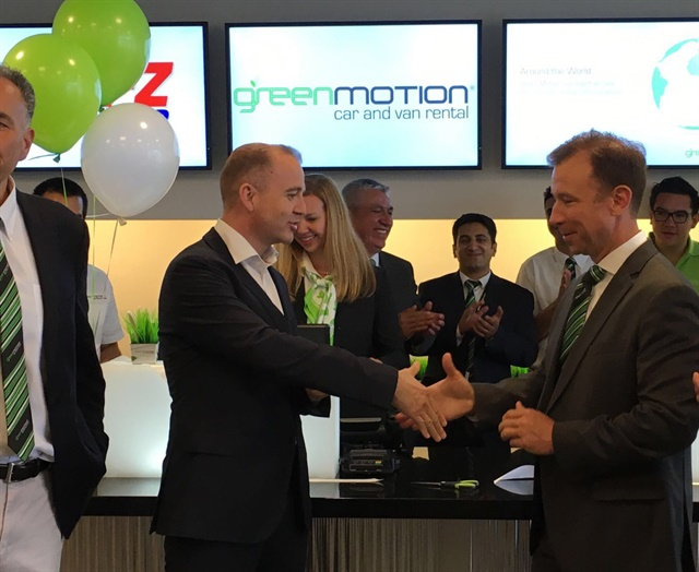 Green Motion opens a franchise location at San Diego's new Rental Car Center. Photo courtesy of Green Motion.