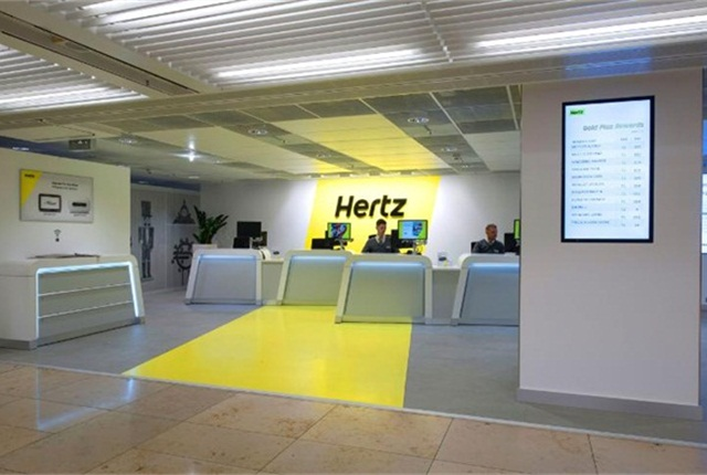 Hertz's location at Germany's Frankfurt Airport. Photo via The Hertz Corp.