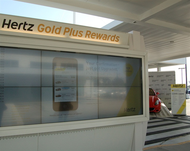Hertz's San Diego Airport location. Photo by Amy Winter.