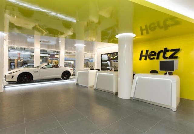 Hertz has remodeled its flagship location in Paris. Photo courtesy of The Hertz Corp.