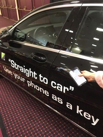 Green Motion's 'Drive & Go' service debuted at the 2018 International Car Retnal Show. The tech allows customers to use their phone to unlock their rental vehicle. Photo courtesy of Green Motion.