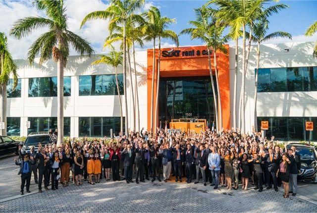 Sixt held a ribbon-cutting ceremony on Nov. 17 to launch its new North American corporate headquarters in Fort Lauderdale.(Photo courtesy of Sixt.)