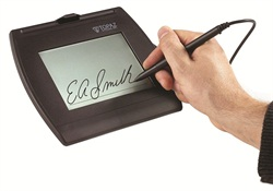 Electronic signature pad. Photo courtesy of Computime.