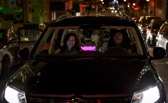 A Lyft driver. Photo courtesy of Lyft.