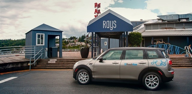 BMW's ReachNow carsharing service includes MINI Clubman vehicles. Photo courtesy of BMW.