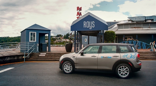 BMW's ReachNow carsharing service, which includes MINI Clubman vehicles, is now available at the Seattle-Tacoma International Airport. Photo courtesy of BMW.