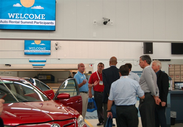 The Manheim Fort Lauderdale auction visit included a presentation on how to recondition a vehicle to get it ready for auction day. Photo by Amy Winter-Hercher.