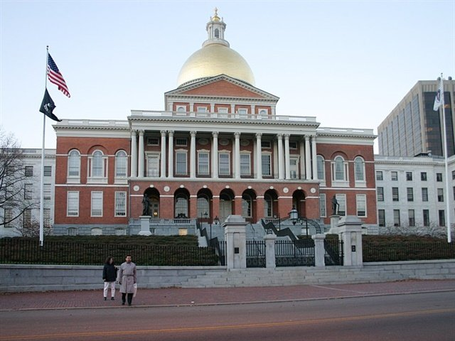 The Massachusetts state house. Photo via Cburnett/Wikimedia.