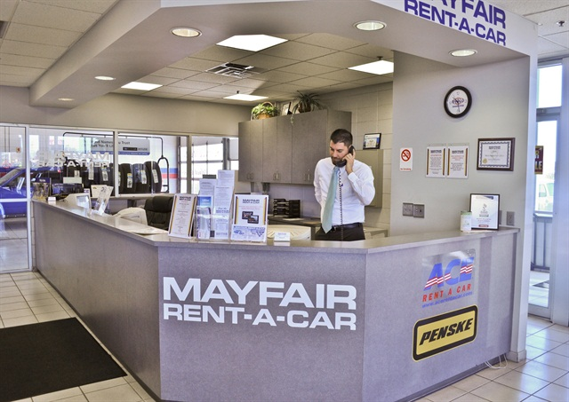 Photo courtesy of Mayfair Rent-A-Car.